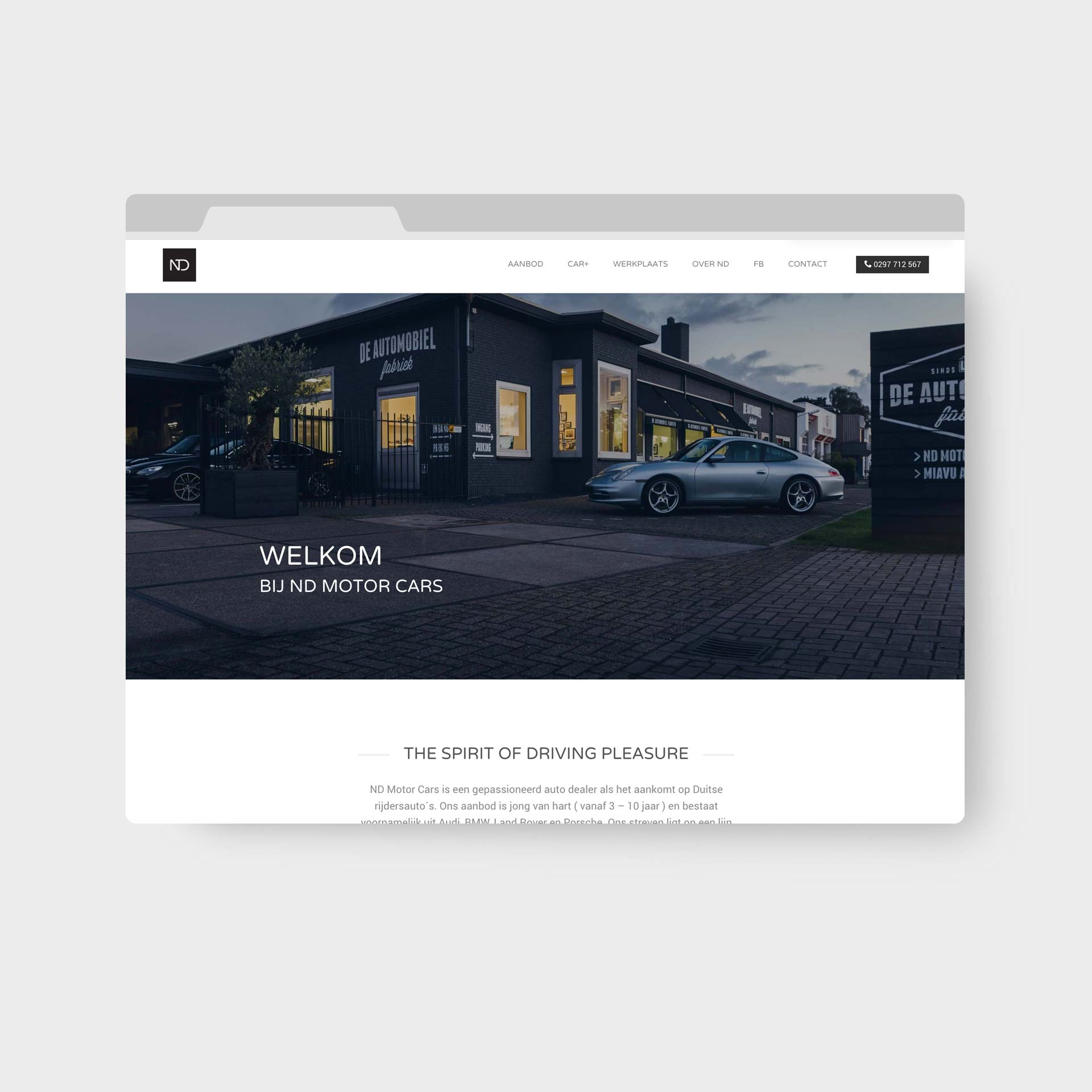 ND Motor Cars Webdesign