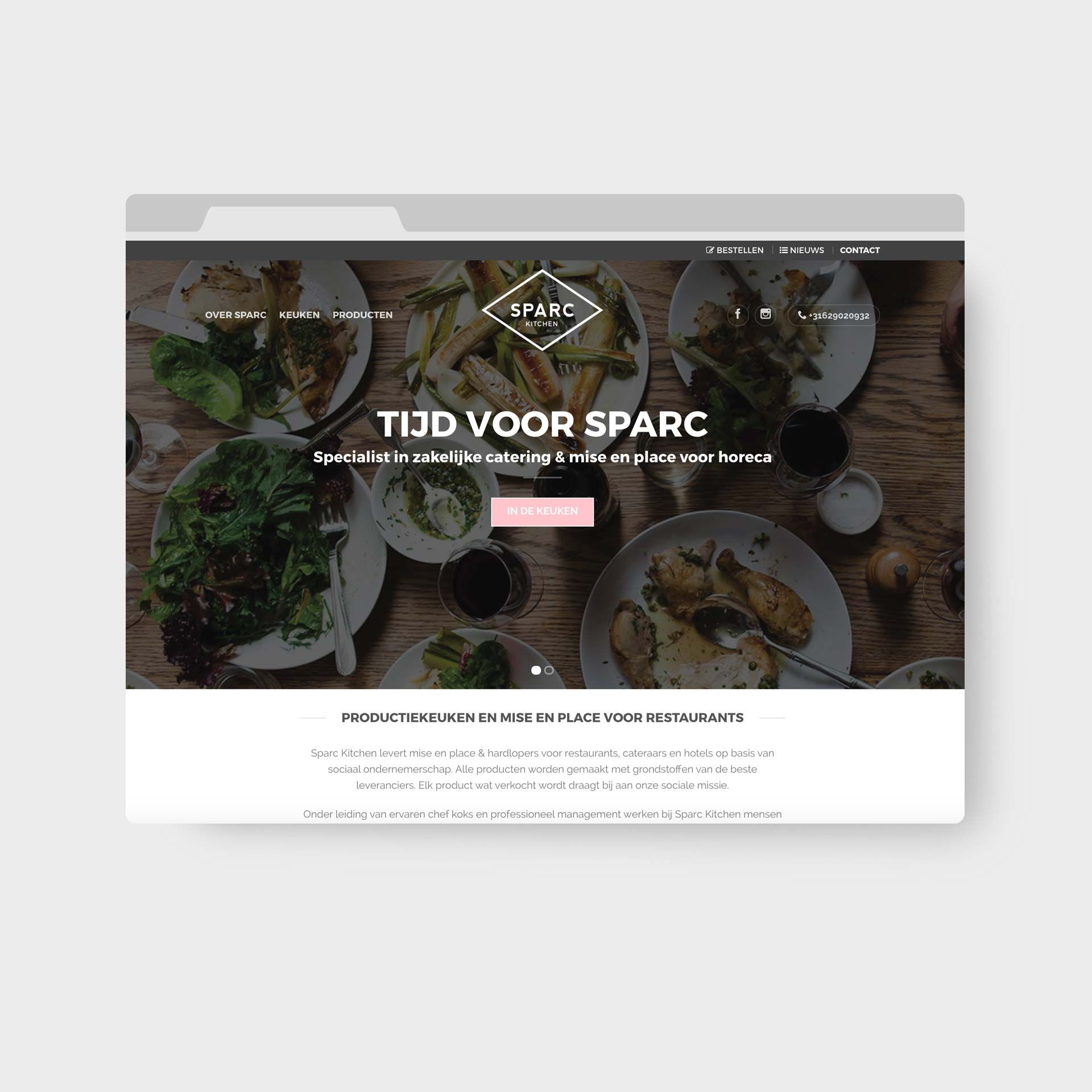 Sparc Kitchen Webdesign