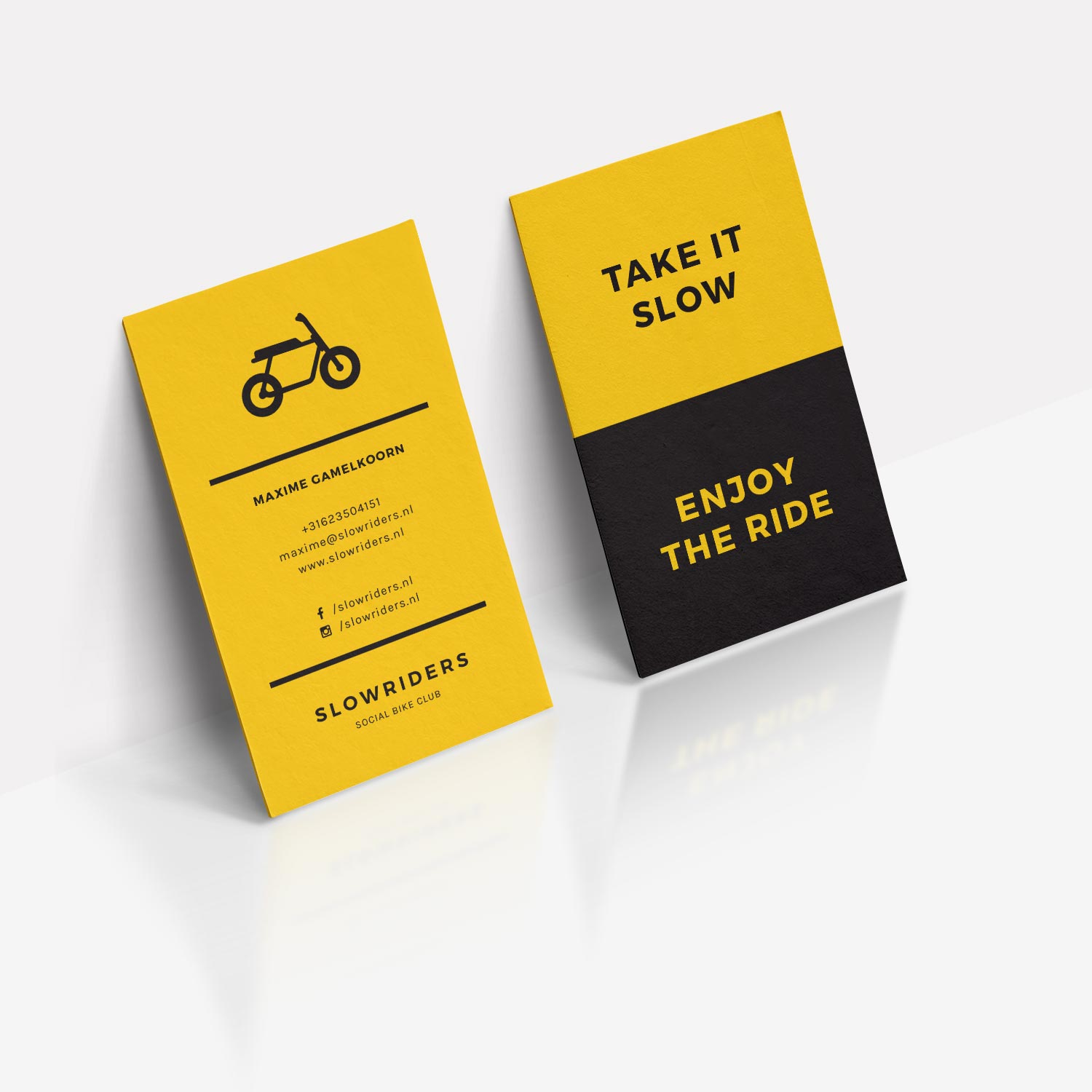 Slowriders Bike Club Business Cards