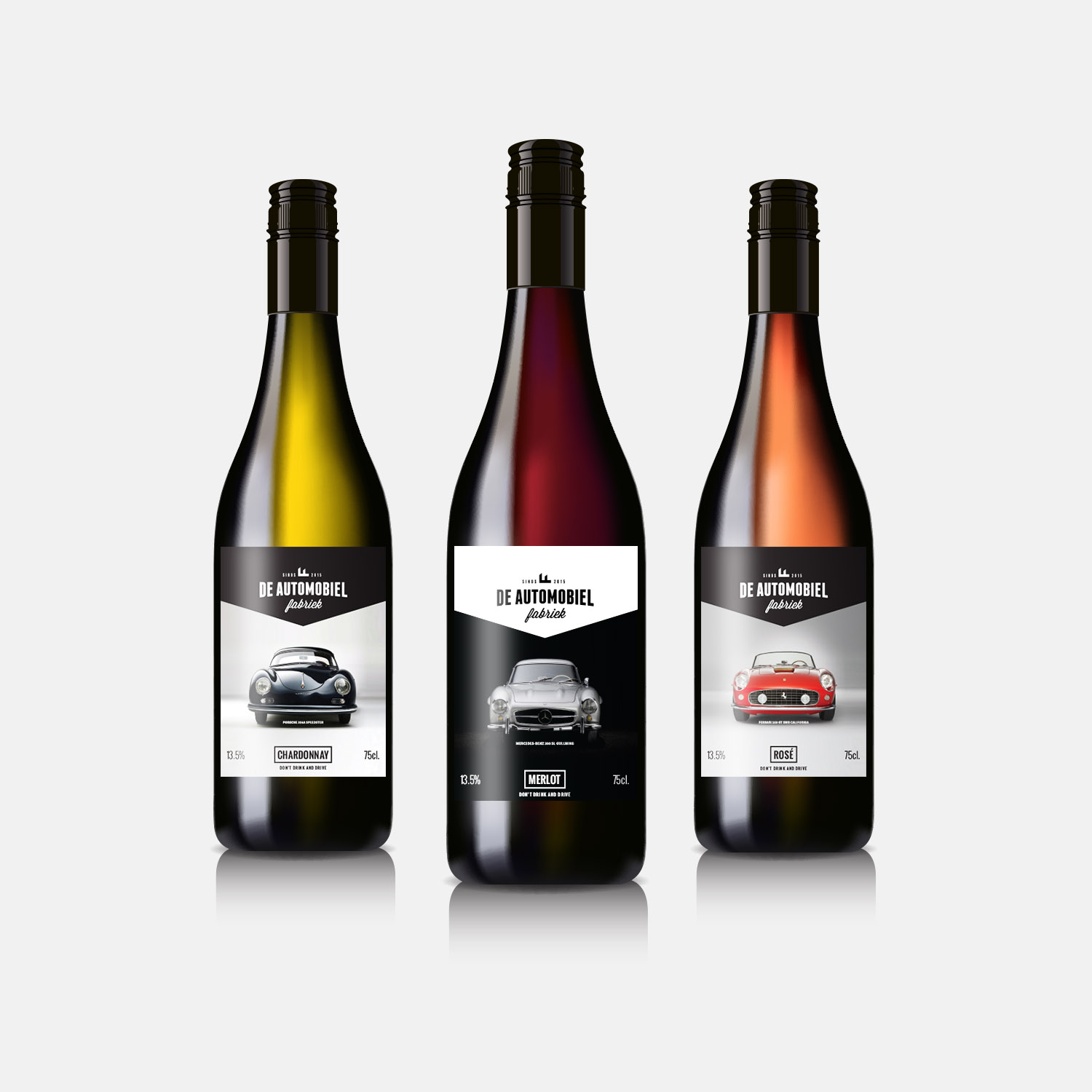 De Automobielfabriek wine labels