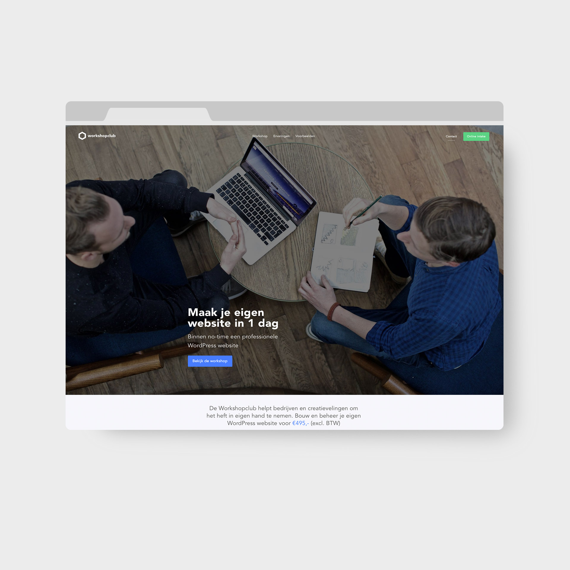 Workshopclub webdesign